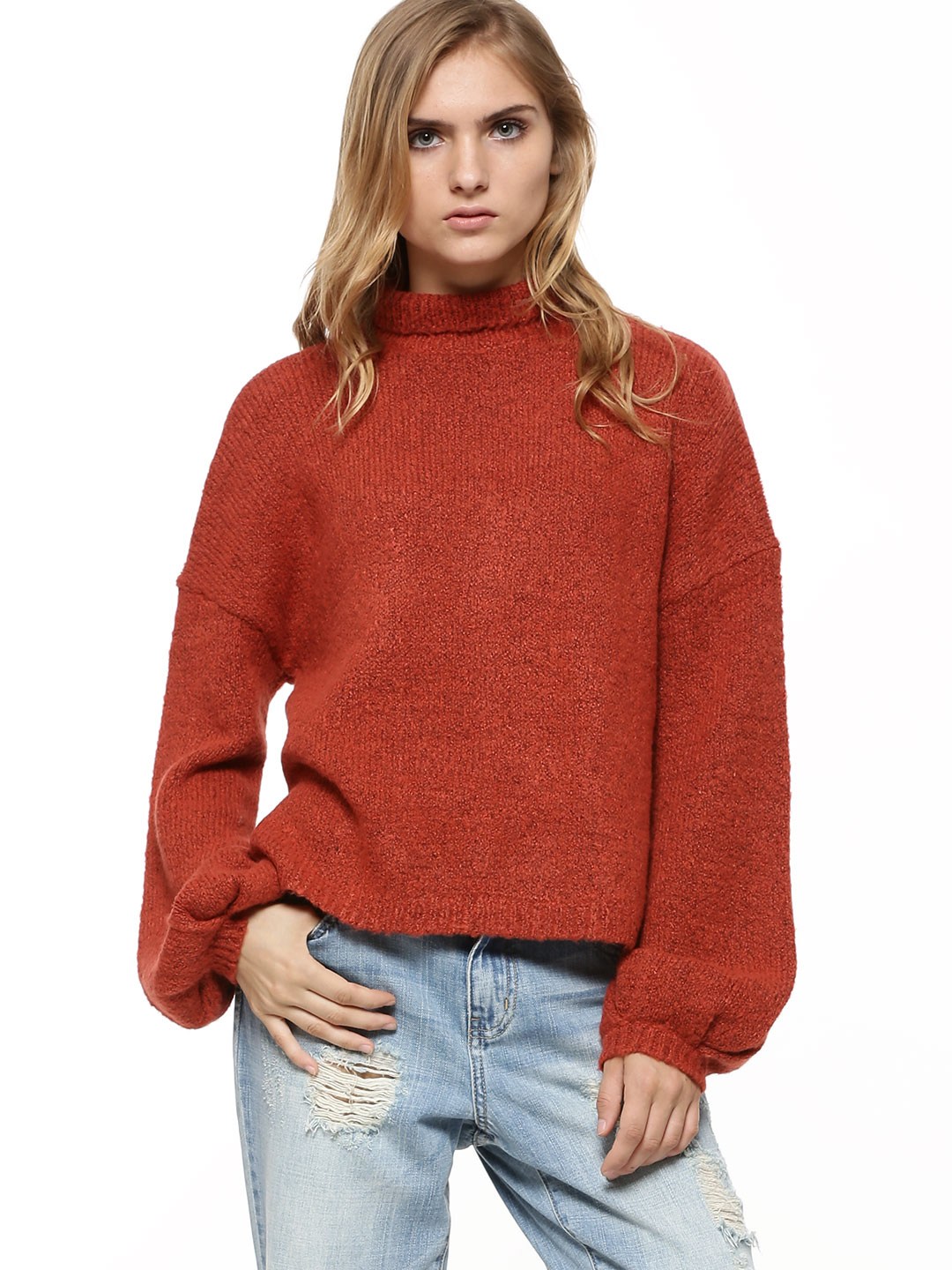 First and I Red FIRST & I Cropped Chunky Knit Jumper 1