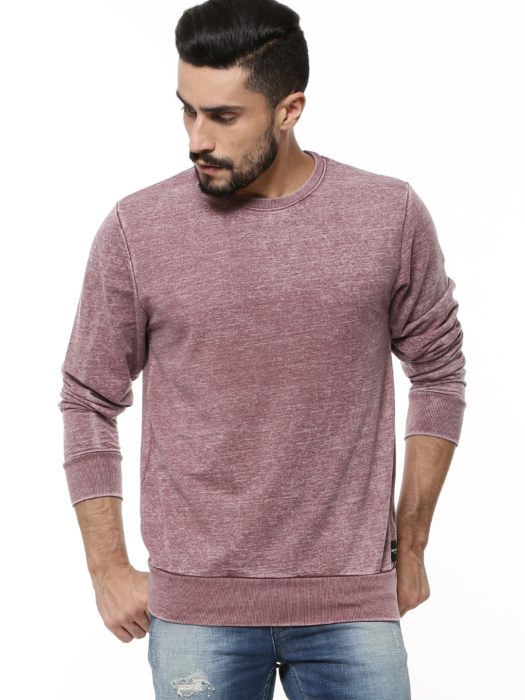 Only & Sons Brown/Rust Lightweight Washed Sweatshirt 1