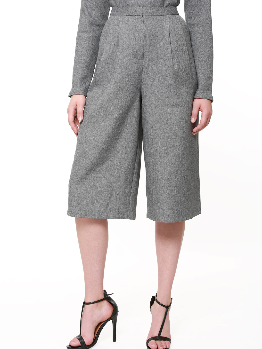 First and I Grey FIRST & I Structured Culottes 1