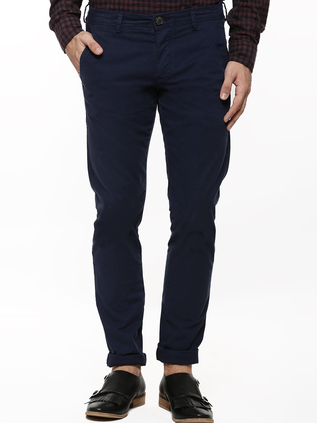 Selected Homme Medieval Blue Skinny Fit Stretch Chinos 1