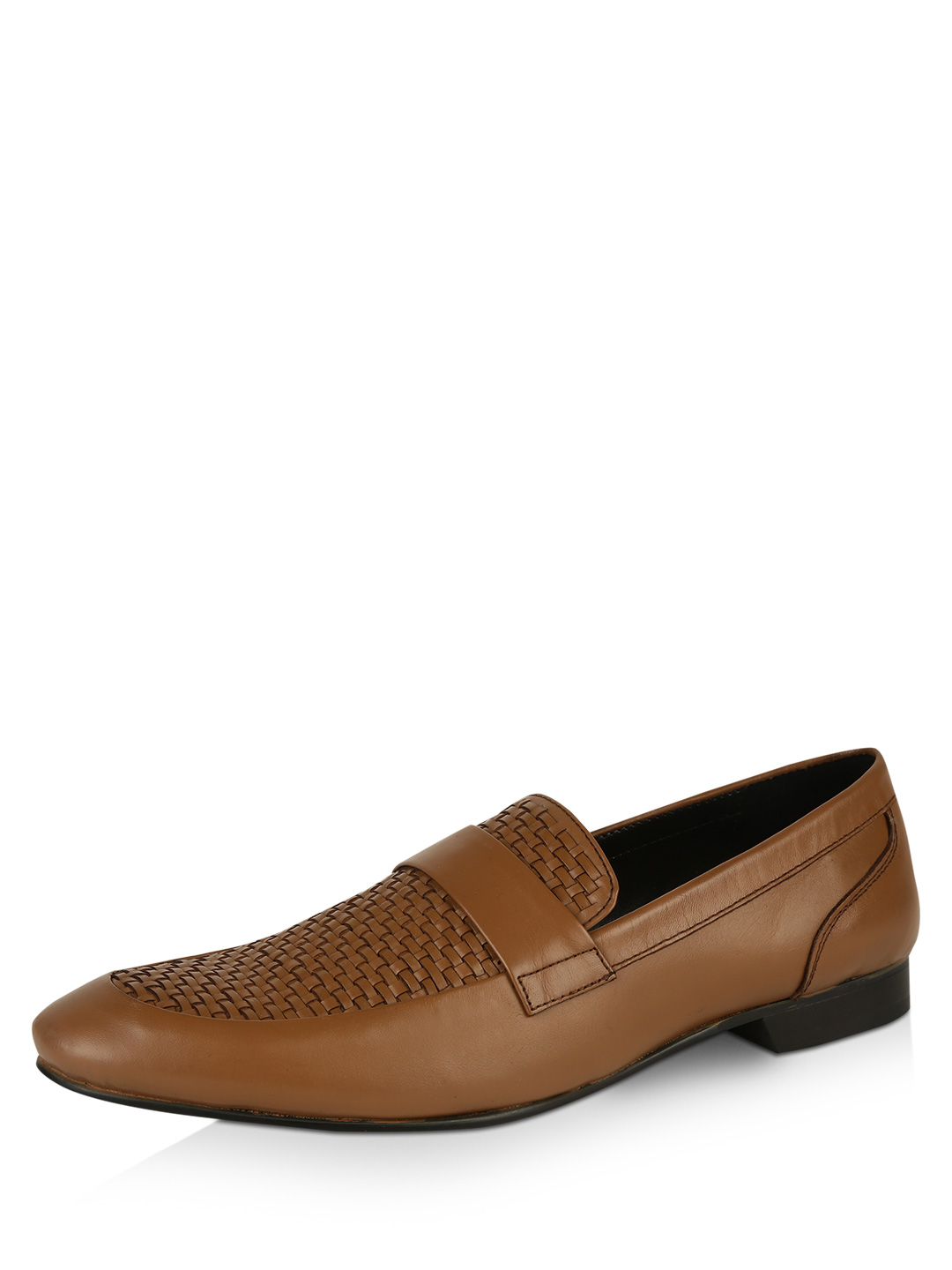 Famozi Camel Woven Loafers 1
