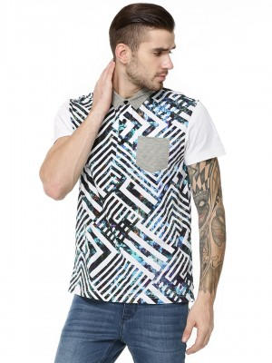 KOOVS Printed Polo Shirt...