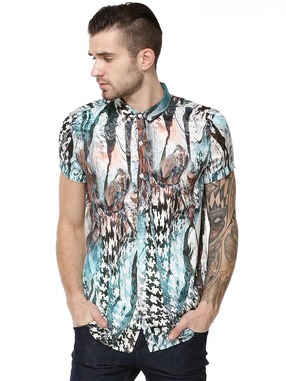KOOVS Multi Marbleprint Shirt 1