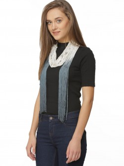 New Look Ombre Tassle Skinny Scarf