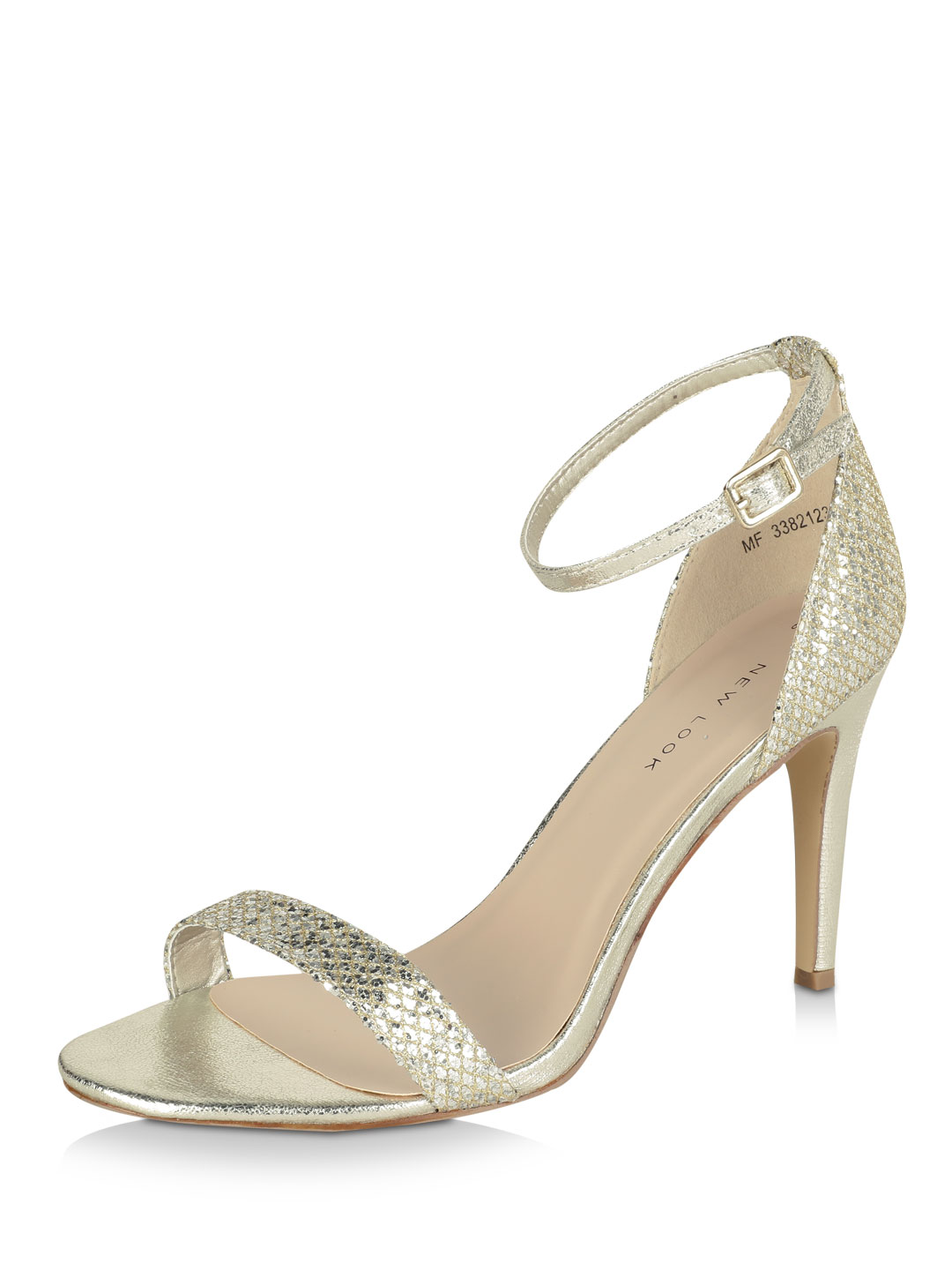 New Look Gold Barely There Sandals 1