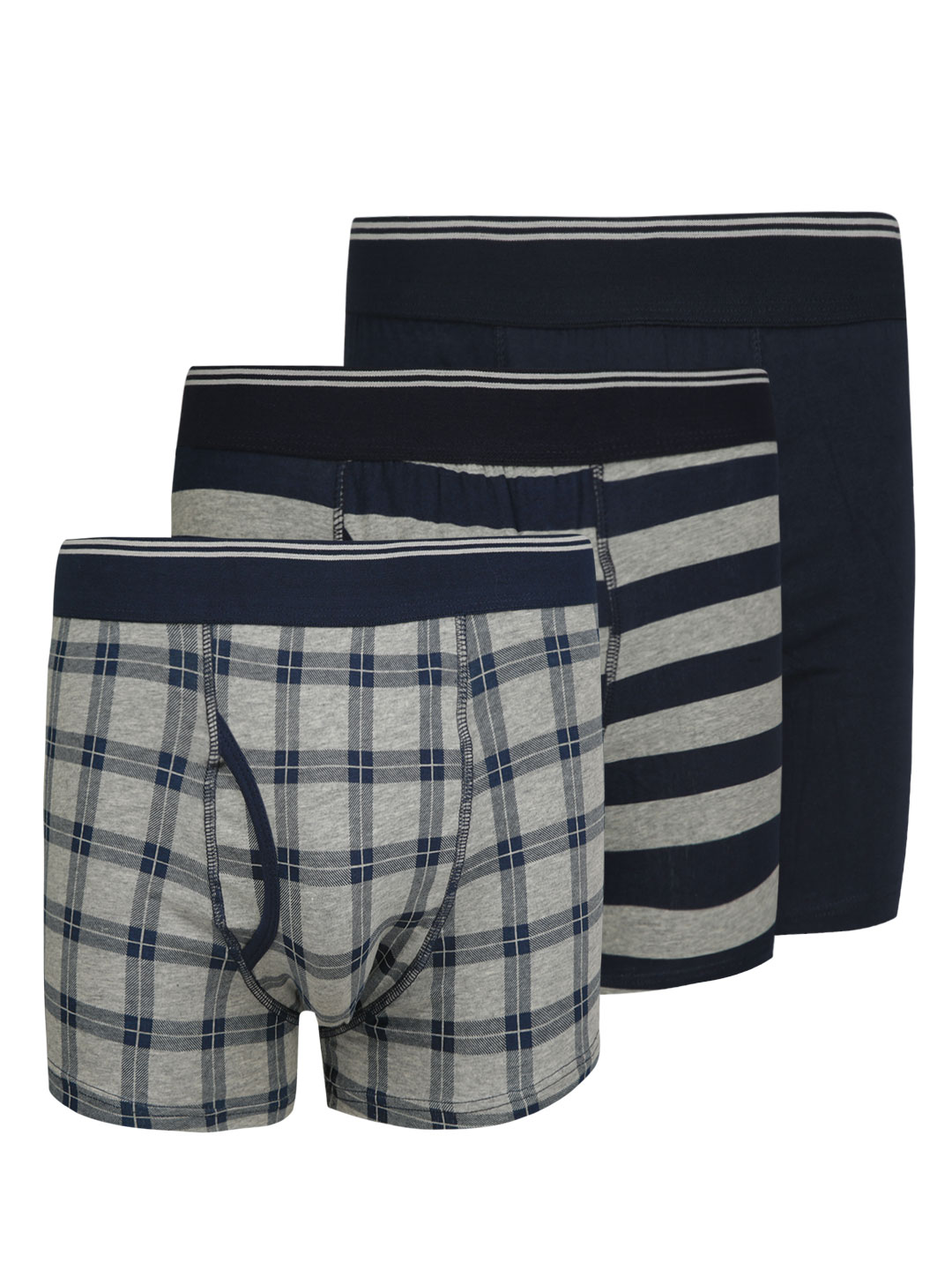 New Look Gingham Stripe Boxers  Pack of 3