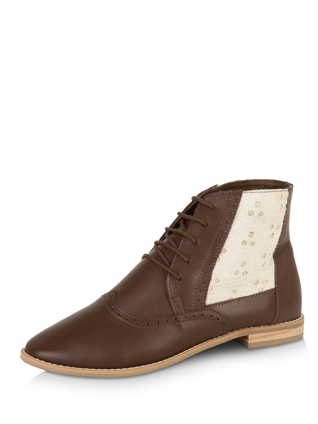 Zebba Tan Leather  Boots 1