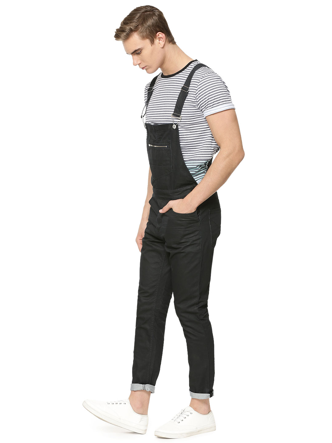 X.O.Y.O Denim Dungaree With Fr...