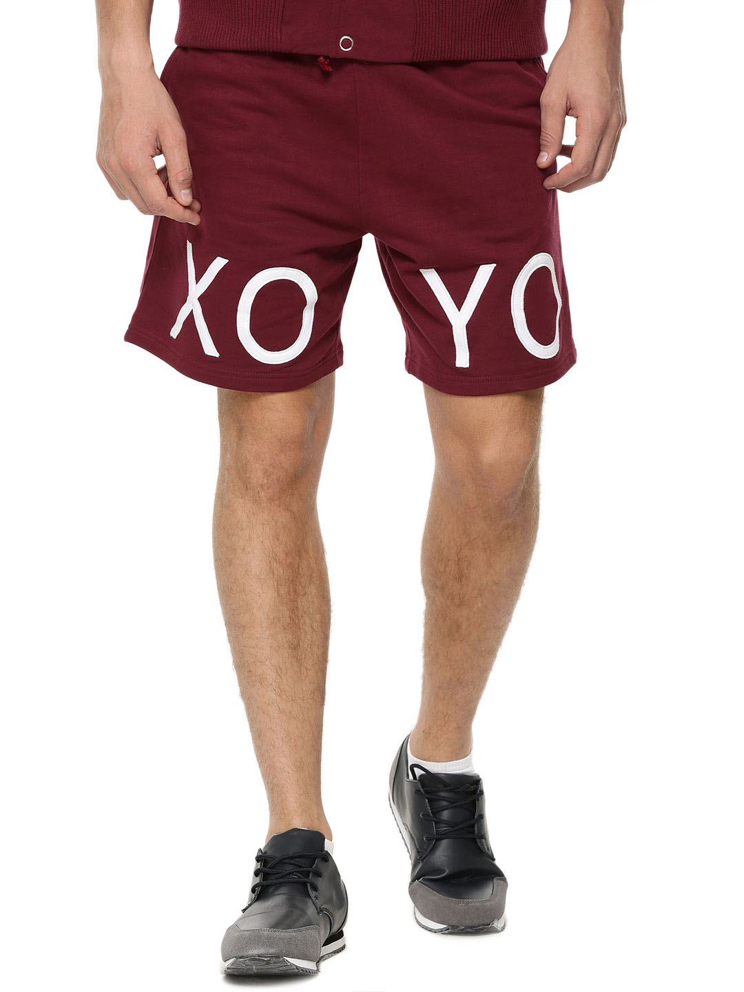 X.O.Y.O CRANBERRY Brand Carrier Shorts In Knit Fabric 1