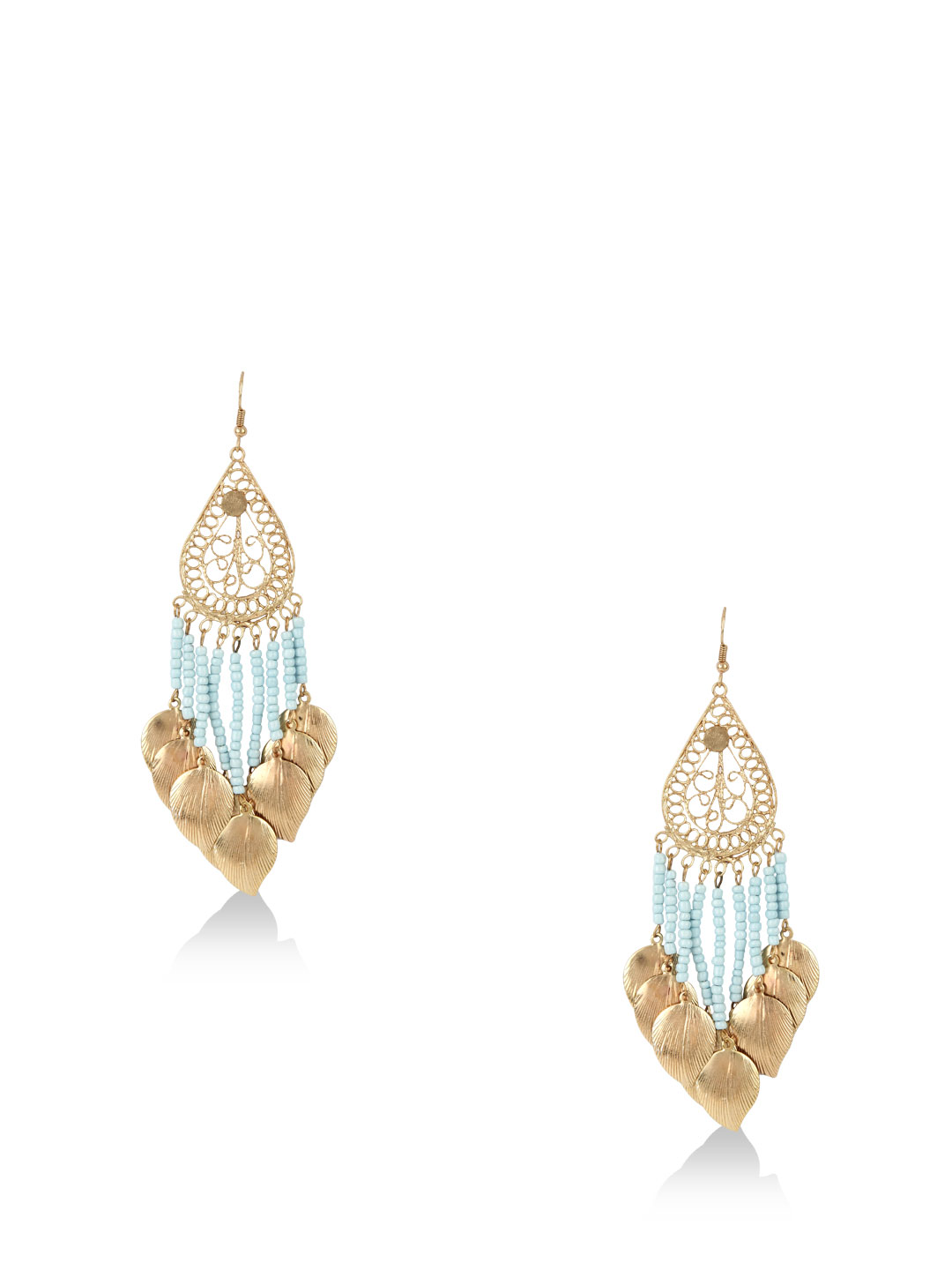 Blueberry Gold Statement Earrings 1