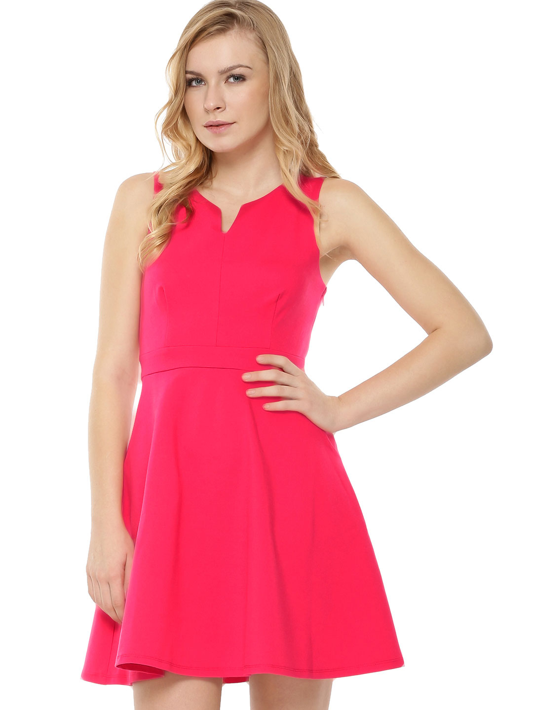 Forever New Vibrant Berry Jersey Fit & Flare Dress 1