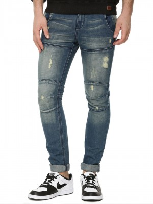 BLUE SAINT Cut And Sew Slim Je...