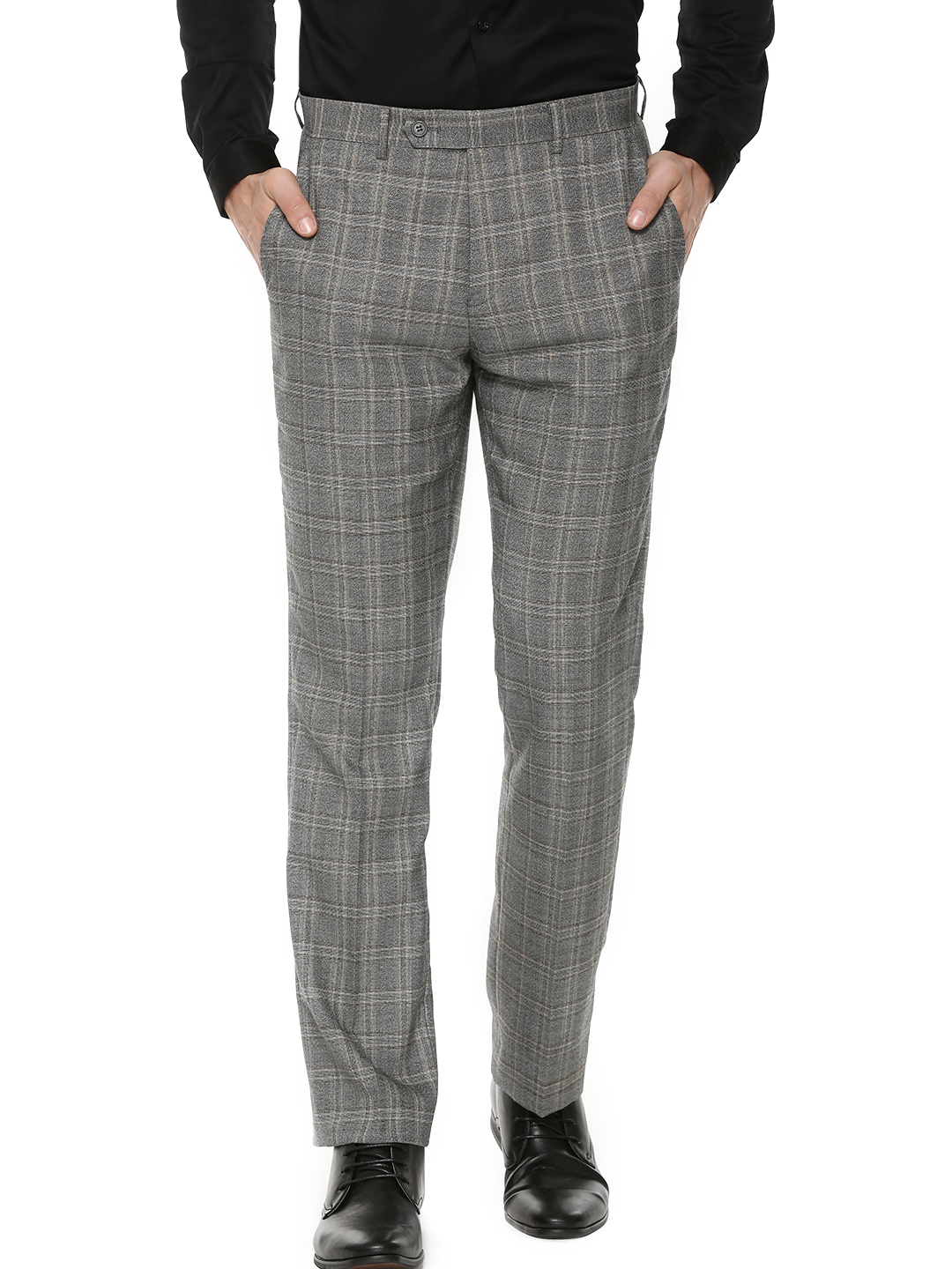 The Grateful Thread Grey Large Check Suit Trousers 1