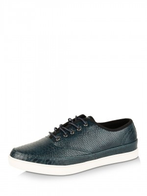 FAMOZI Snake Skin Lace-up Shoe...