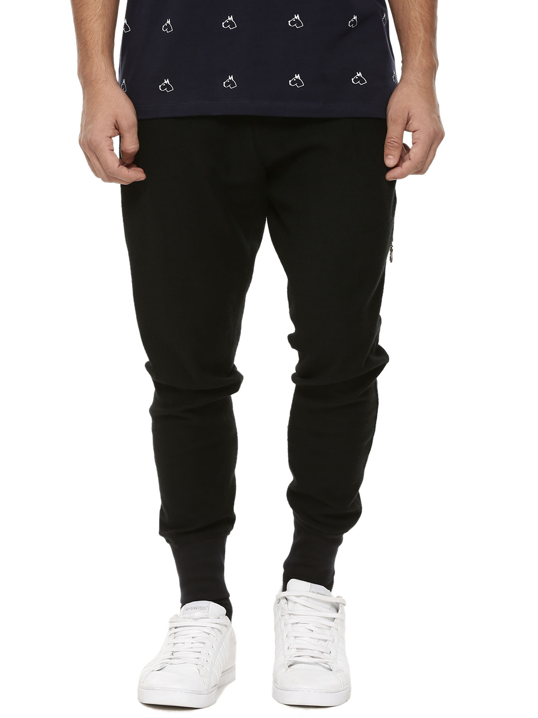 Mr Button Cuffed Jogger With S...