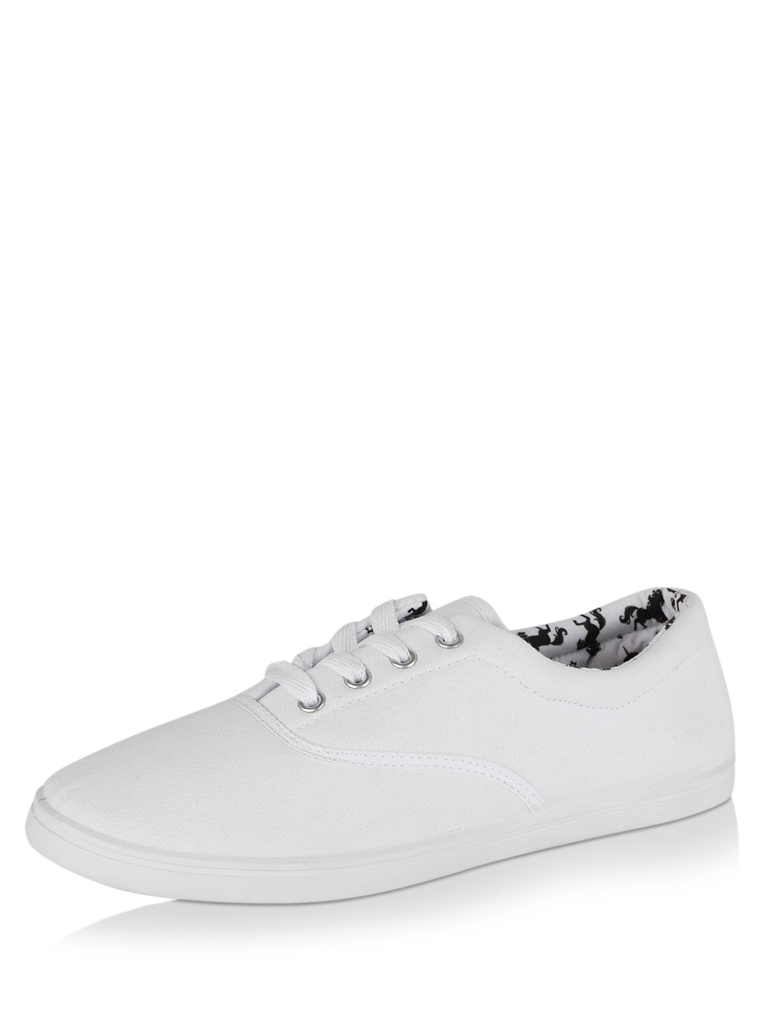 New Look White Lace-up Soft Tennis Sneakers 1