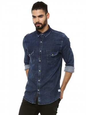 PEPE JEANS Denim Shirt With Co...