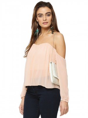 KOOVS Cold Shoulder Sheer Over...