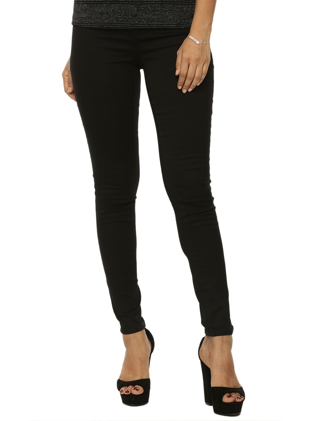 Warehouse Black Second Skin Skinny Jeans 1
