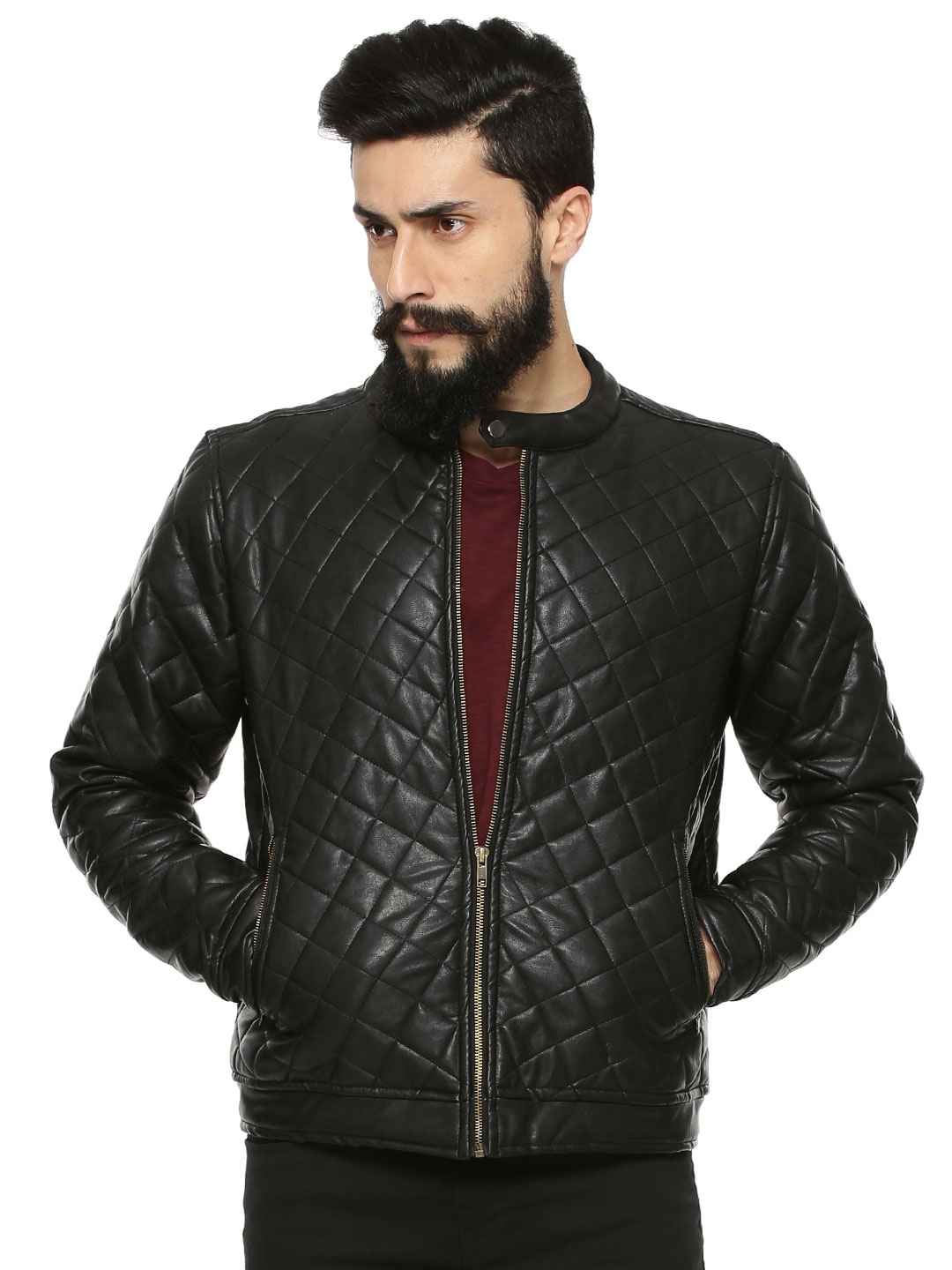 Atorse Biker Jacket With Quilt...