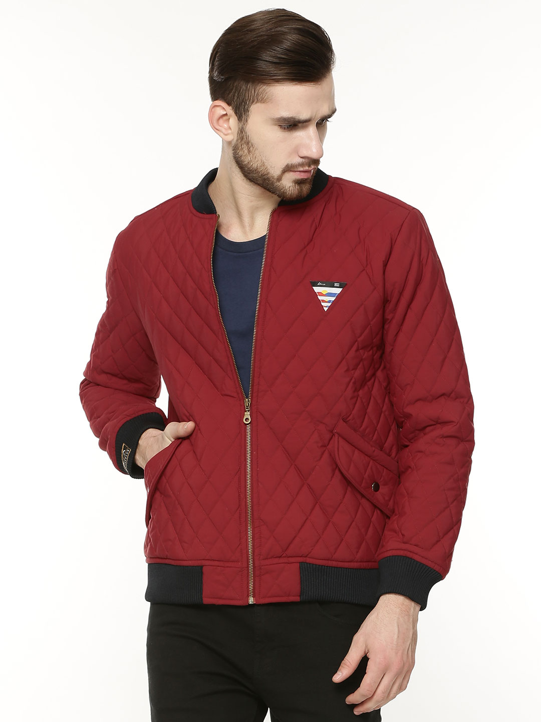 Atorse Quilted Jacket With Bas...