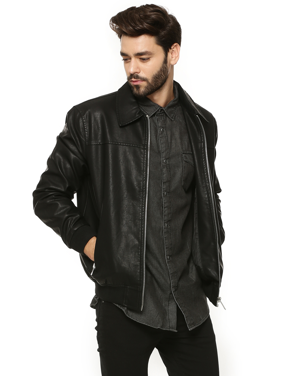 New Look PU Harrington Jacket...