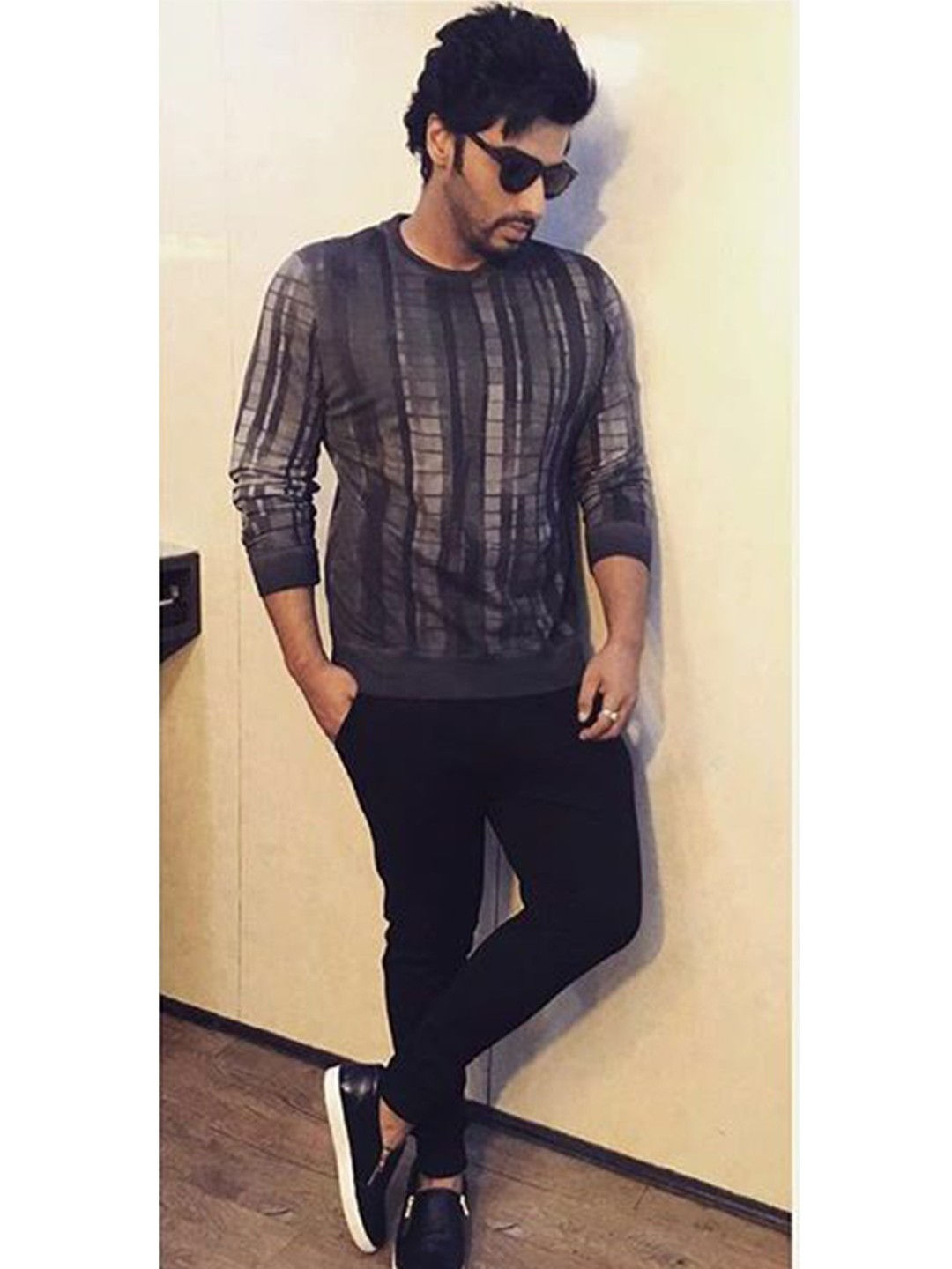 Griffin Black Leather Slip-ons with Side Zipper As Seen On Arjun Kapoor 1