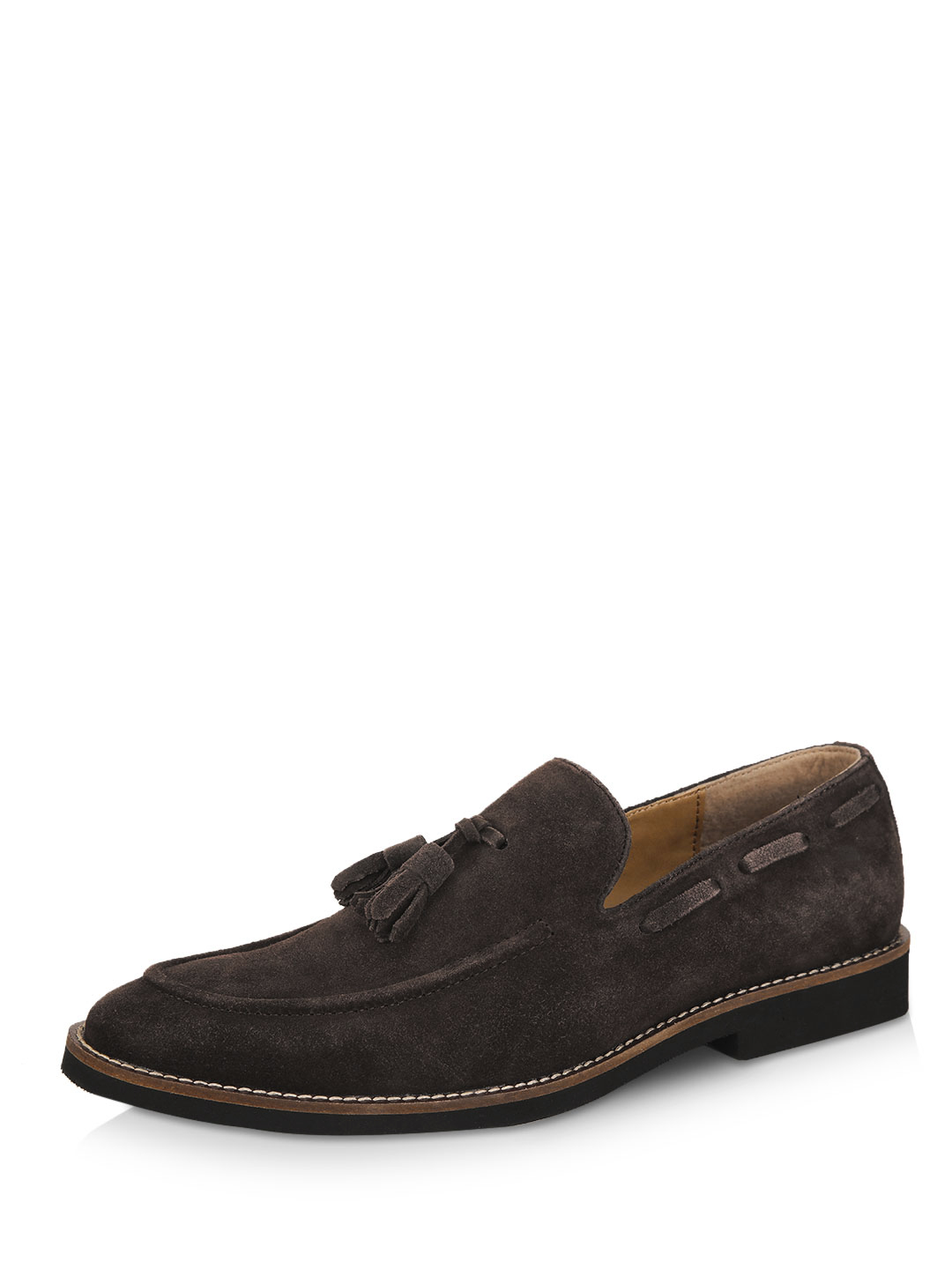 Griffin Brown Suede Tassled Loafers 1