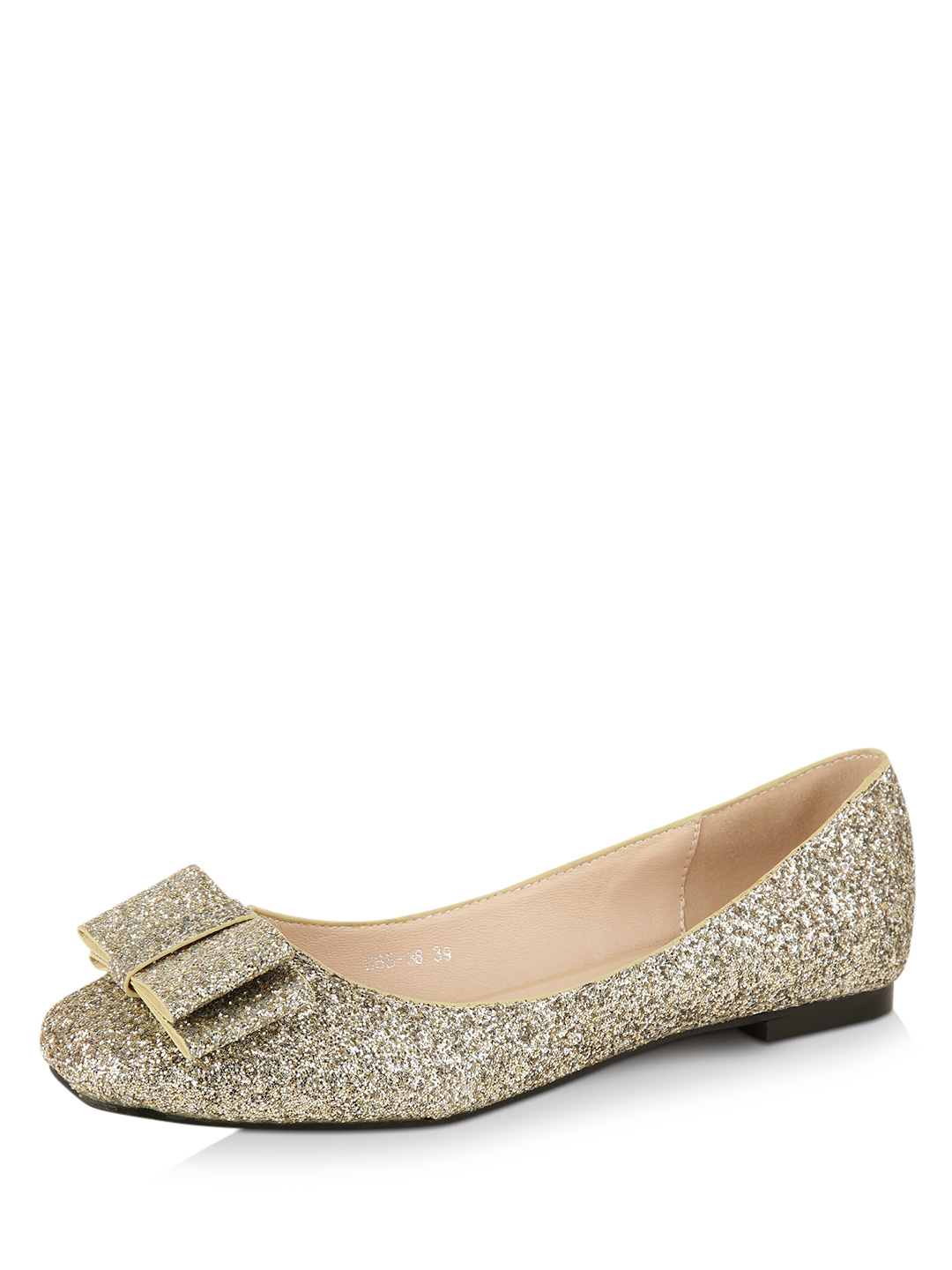 My Foot Couture Gold Oversized Bow Ballerina Flats 1
