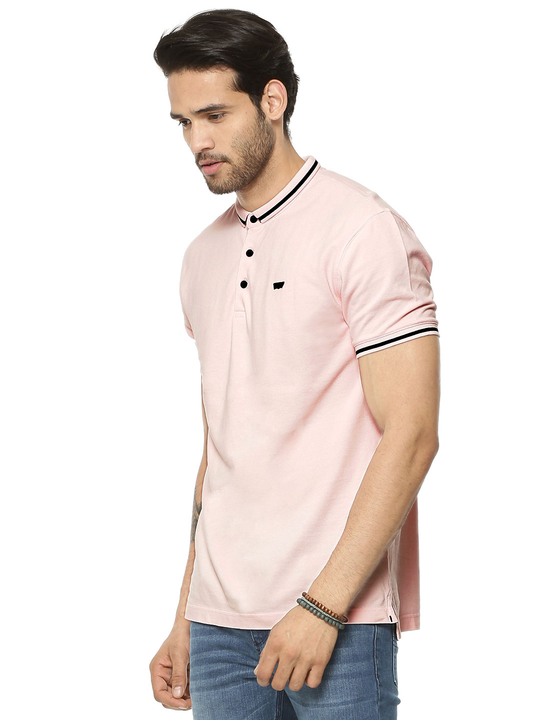 Levi's CHALK PINK Polo Shirt With Contrast Tipping 1