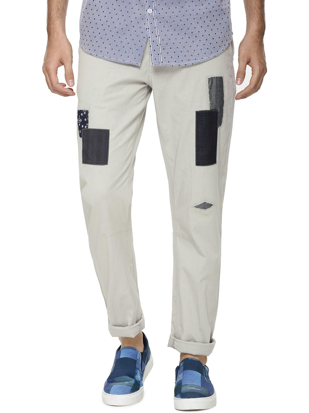 KOOVS Contrast Patch Chinos...