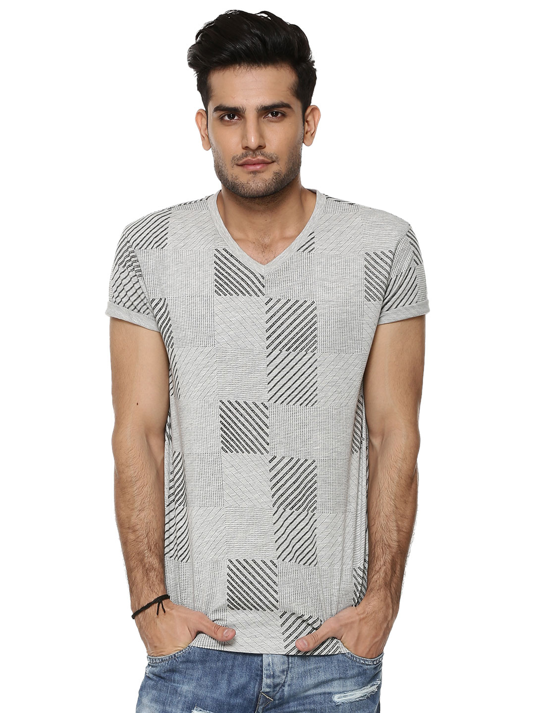 KOOVS Patch Print T-shirt...
