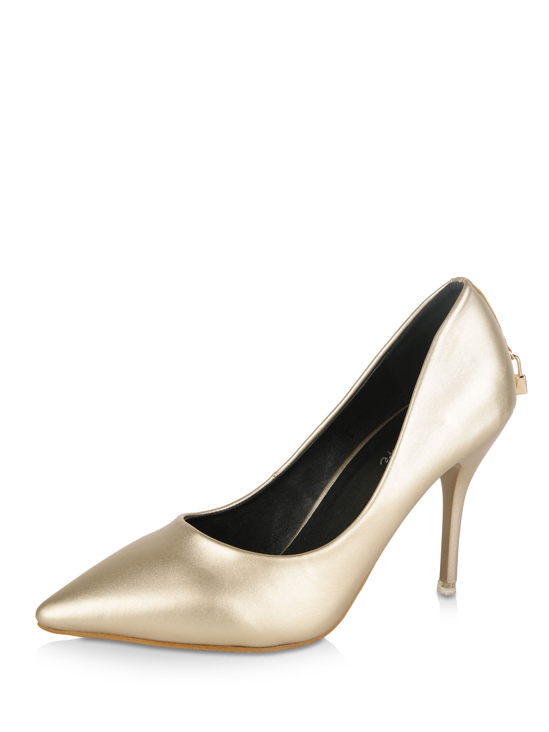 My Foot Couture Gold Pointed Pumps 1