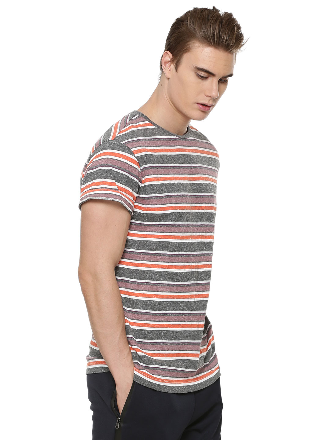 KOOVS Multi Stripes  T-shirt...