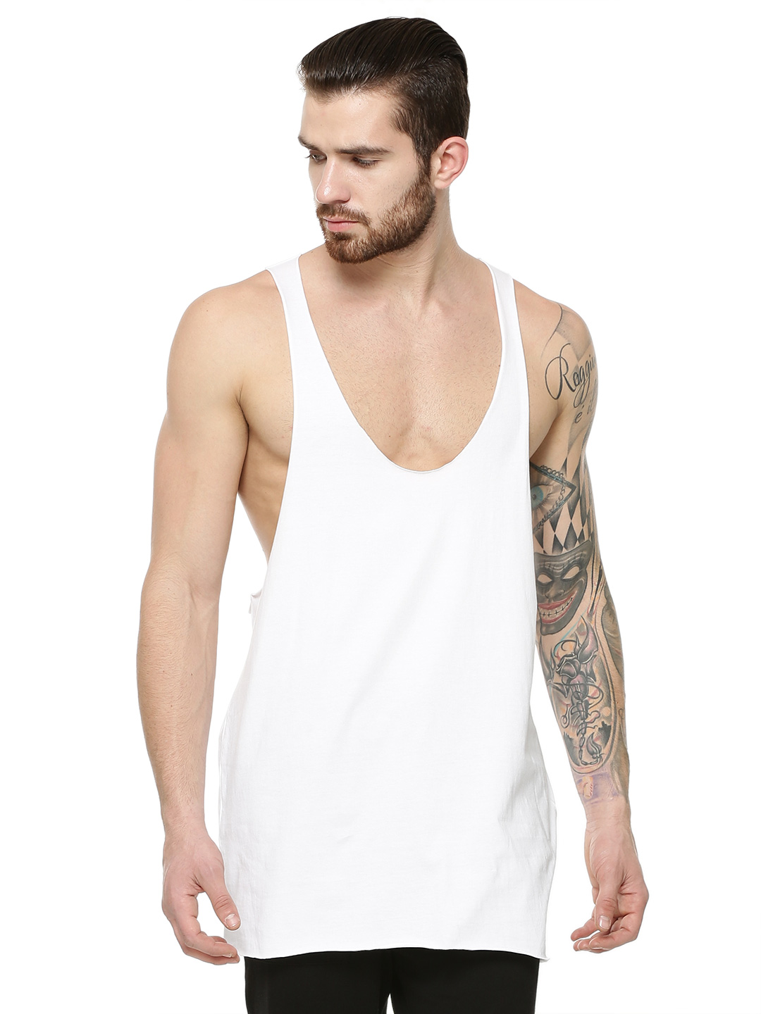 KOOVS White Raw Edge Vest 1