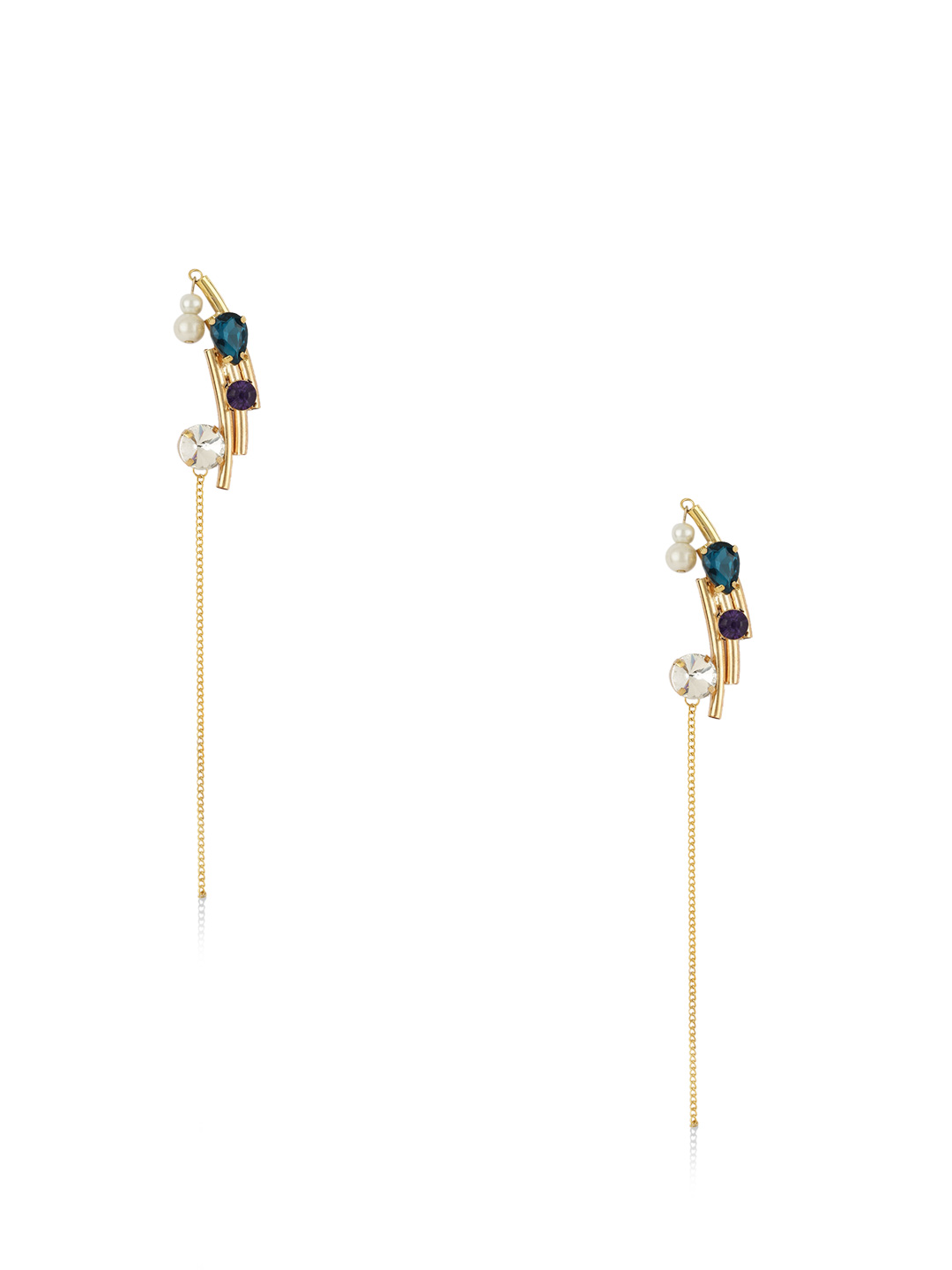 Gold Digger Faux Gem Earrings...