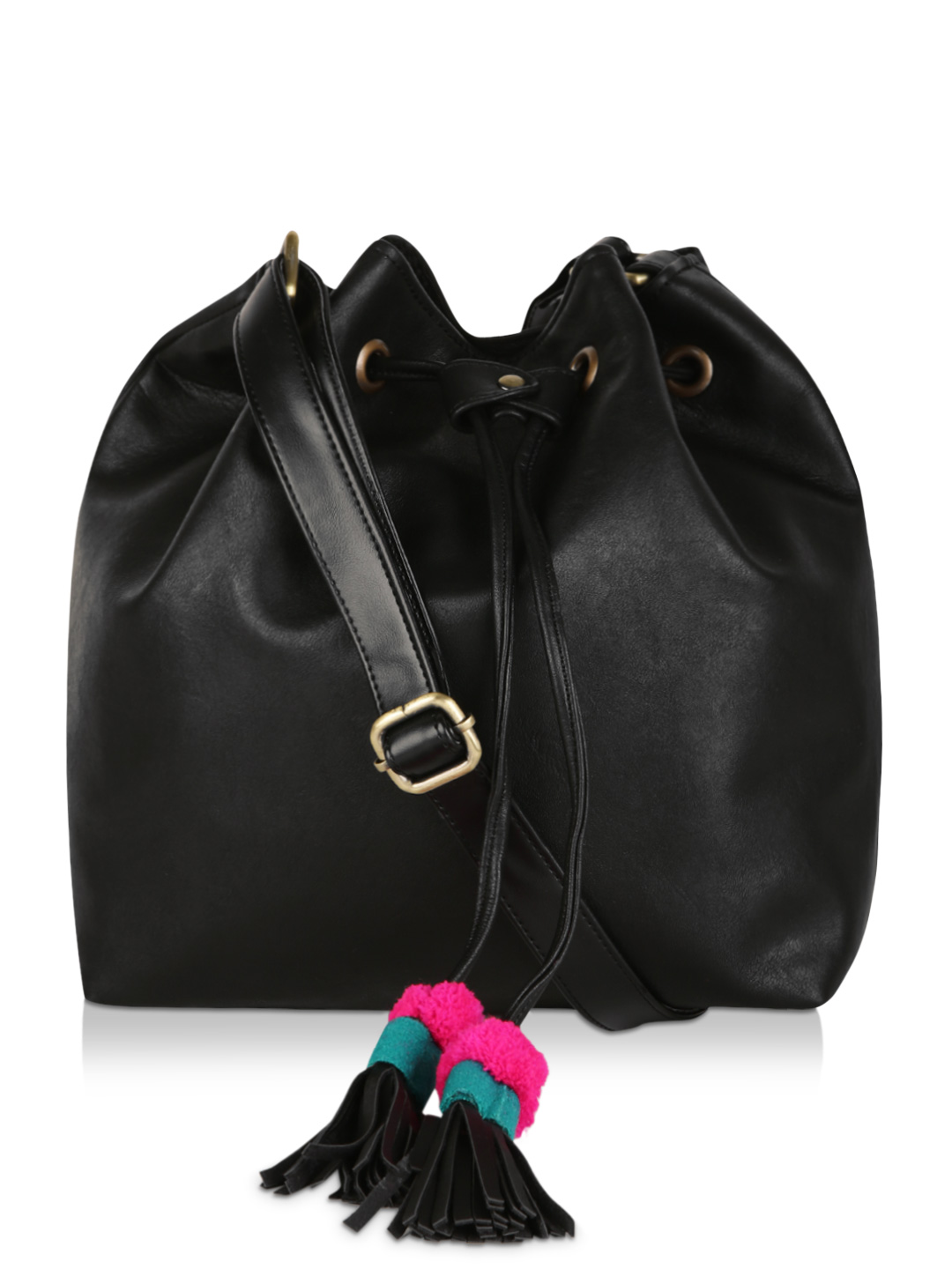 Desi Drama Queen Black Bucket Sling Bag 1
