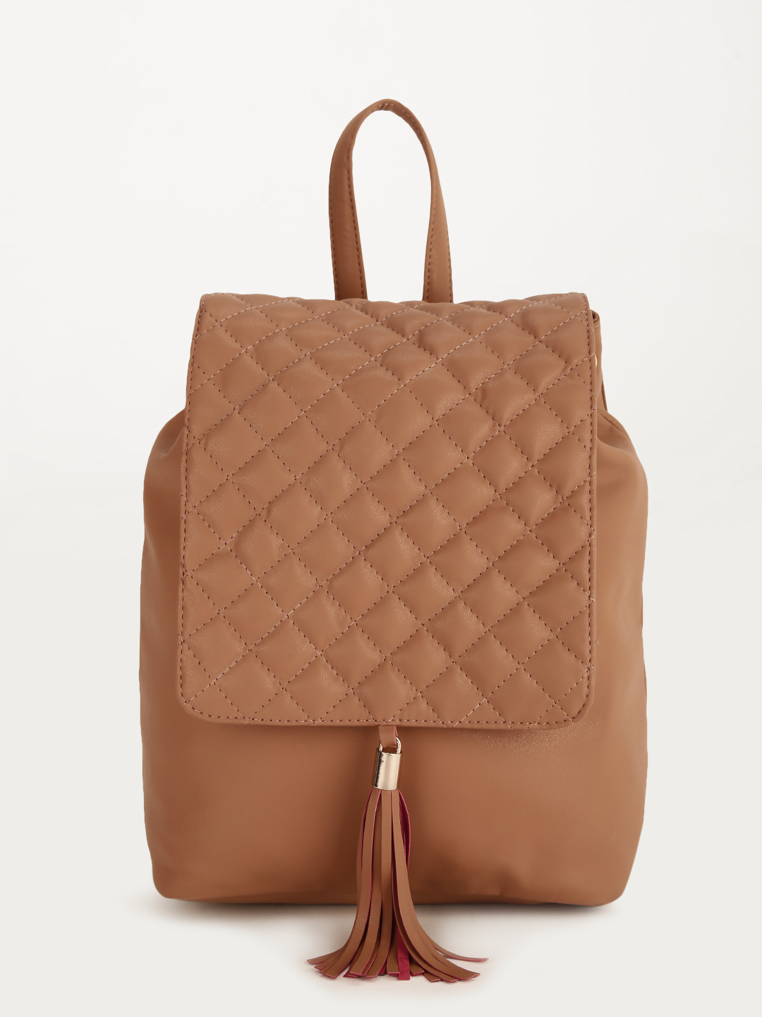 Paris Belle Tan Quilted Backpack 1