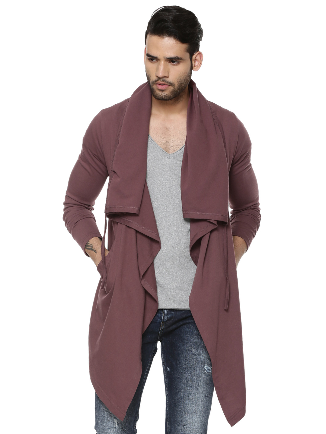 KOOVS Long Line Cardigan...
