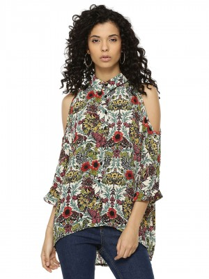 AX PARIS Floral Print Cut Out ...