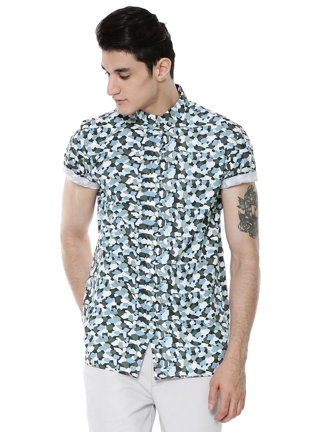 KOOVS Multi Pebble Cameo Print Shirt 1