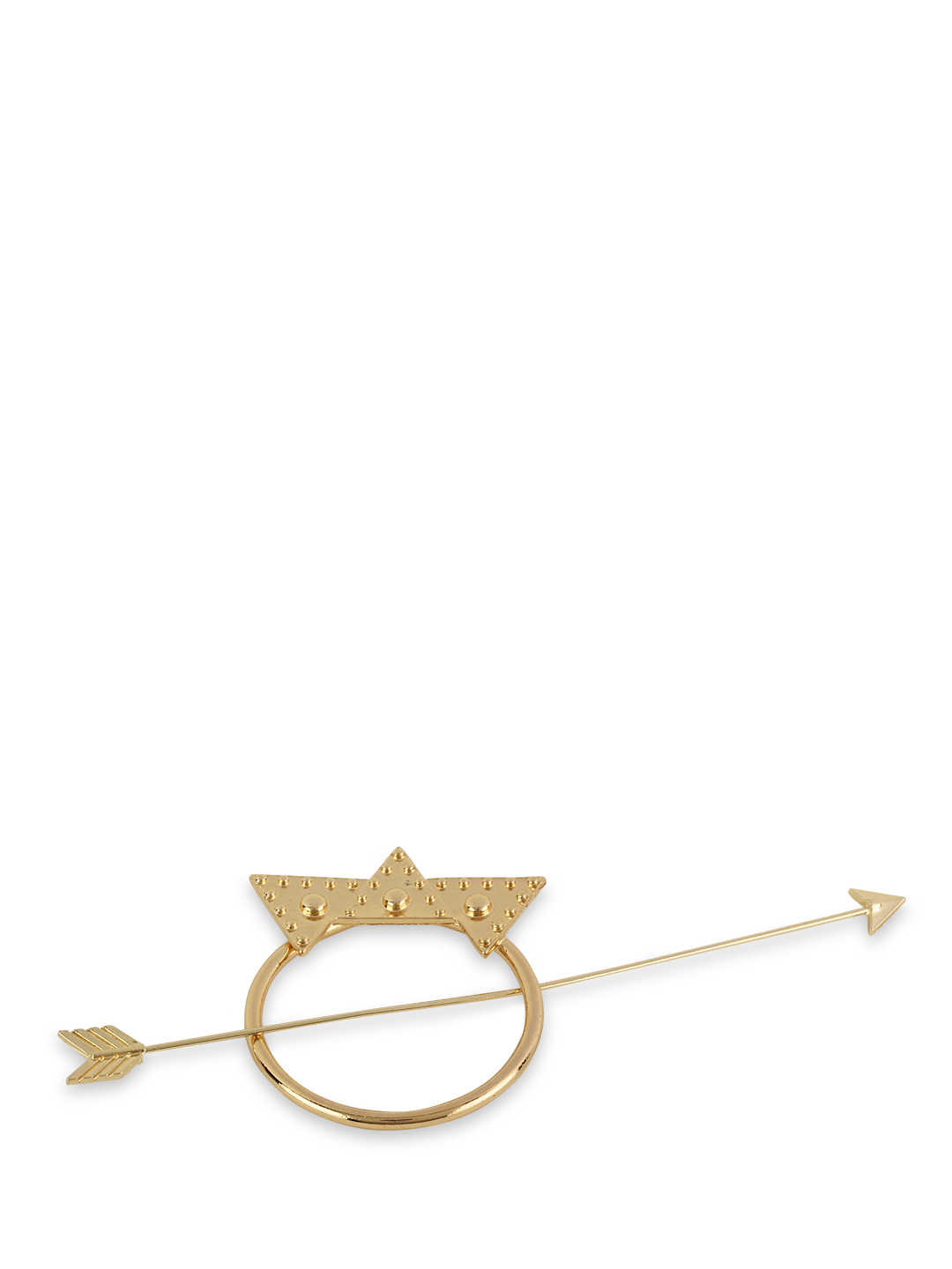 Fayon Gold Arrow Motif Hair Accessory 1