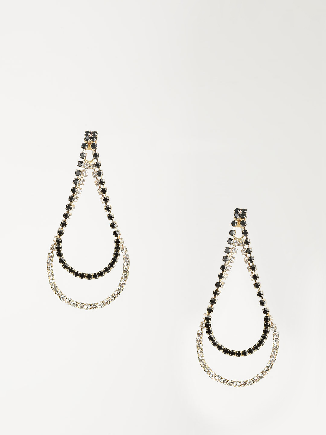 Fayon Black/gold Drop Earrings 1