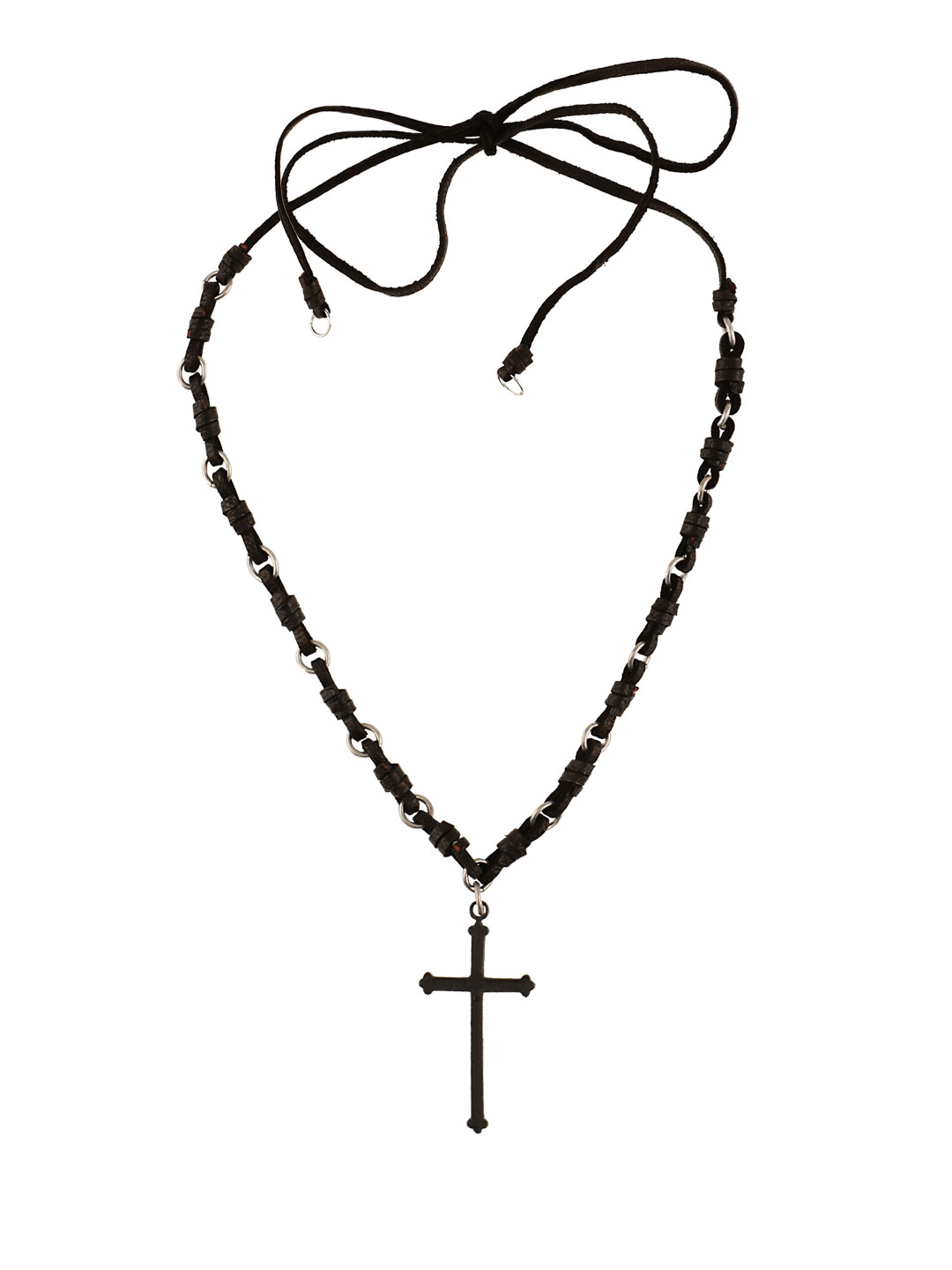 Icon Brand Black Cross Pendant 1