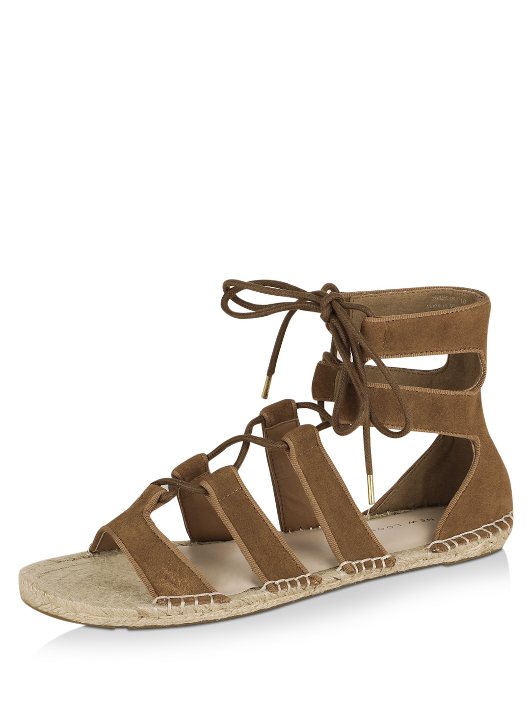 New Look Tan Lace Up Sandals 1