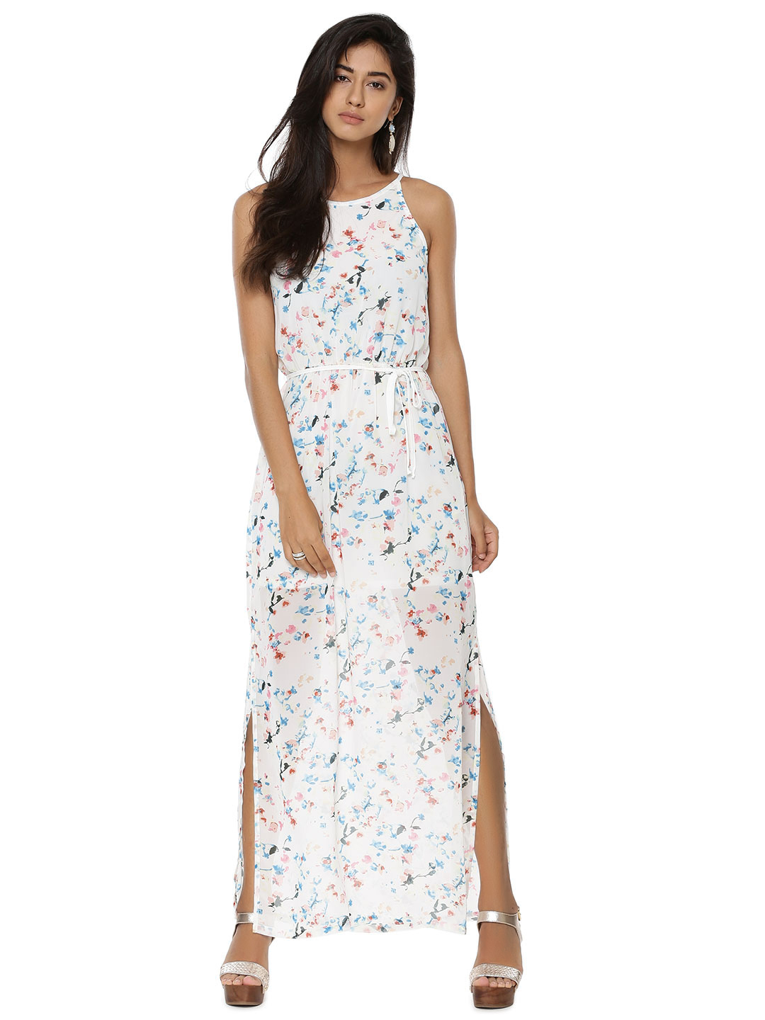 Only White Chain Back Detail Maxi Dress 1