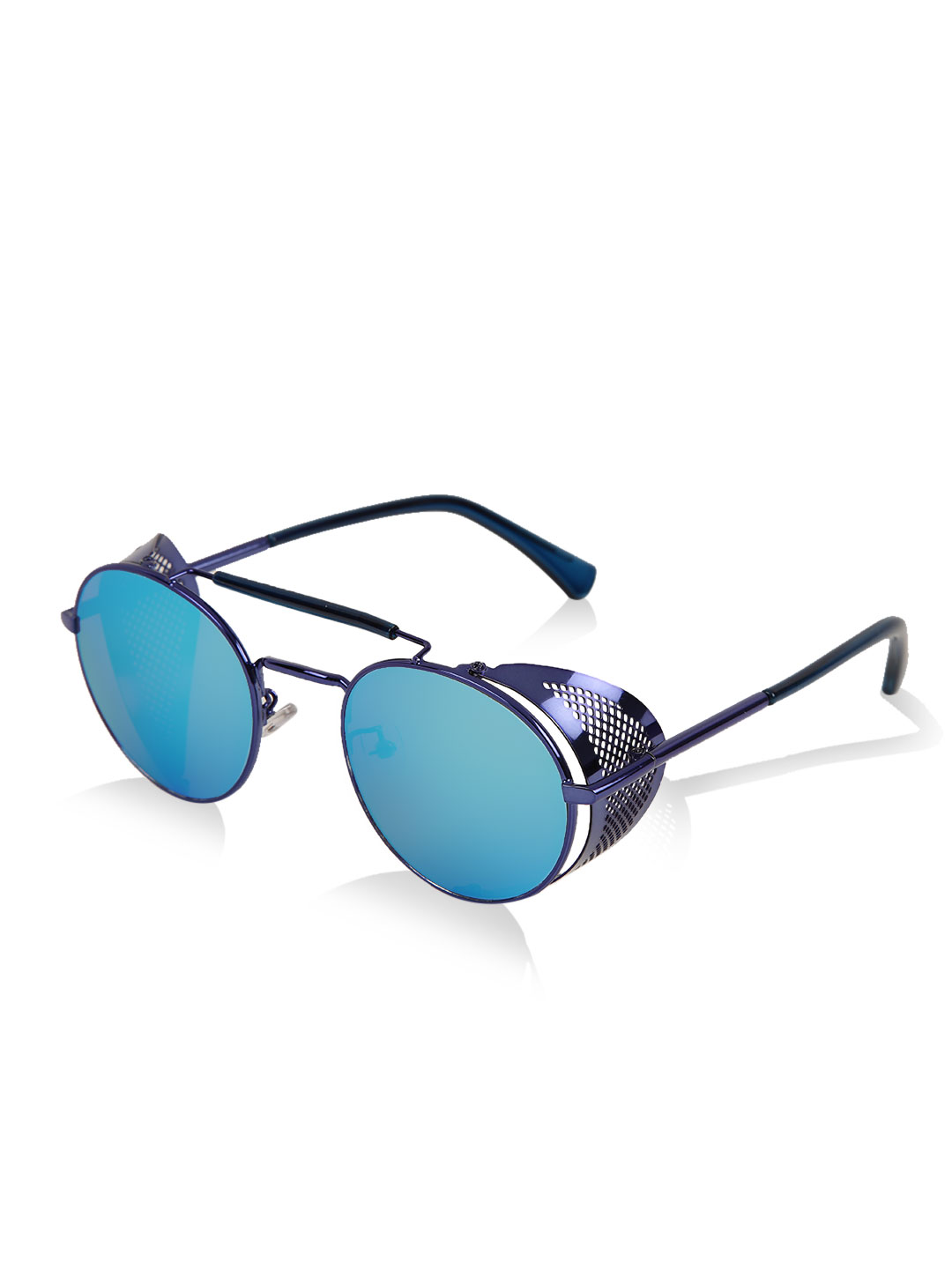 Jeepers Peepers Blue Round Retro Sunglasses 1