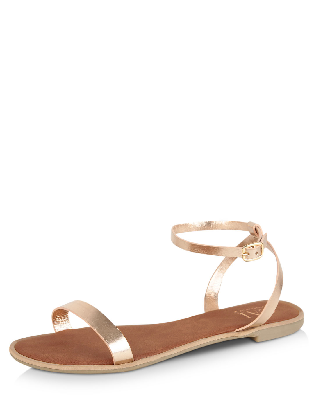 CAi Rose Gold Barely There Flat Sandals 1