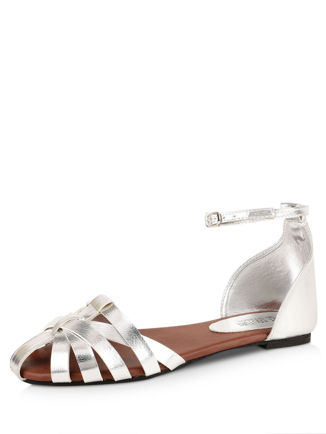 My Foot Couture Silver Metallic Strappy Sandals 1
