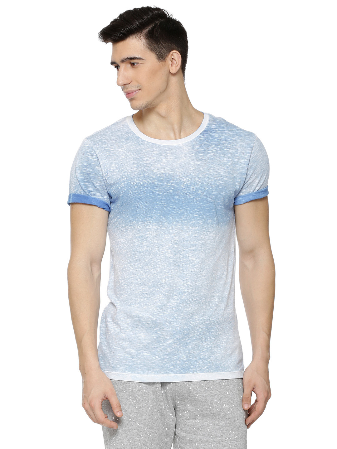 Only & Sons Light blue wash Tonal Crew Neck T-Shirt 1